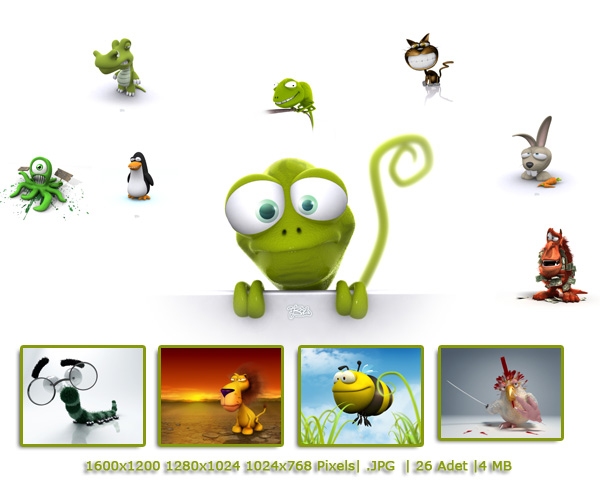 3D Funny Animals Wallpapers{H33T}[KingKhan] - torrent download