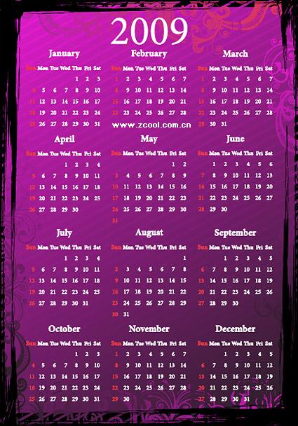 calendar-2009-vector