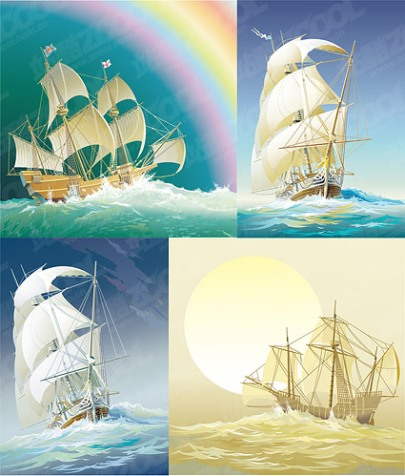 exquisite-ancient-sailing-vector-material