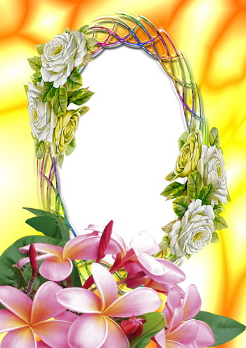 Flower Girl Picture Frame on Picture Frame Flowers