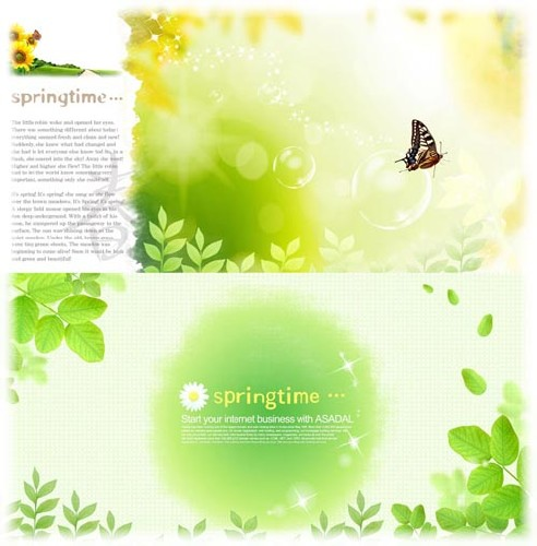Psd Templates - Spring Time