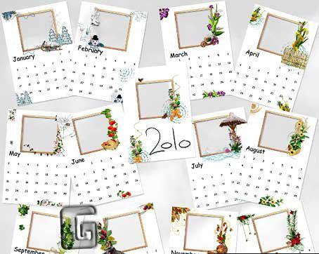 calendars. Calendars 2010 – Psd template