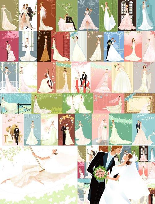 düğün vectorleri