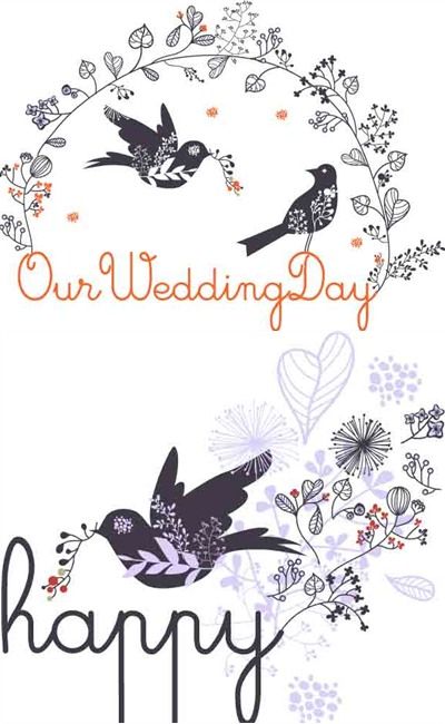 Card parents bride groom wedding wedding party supplies wedding on our wedding day our wedding day vector junglespirit Choice Image
