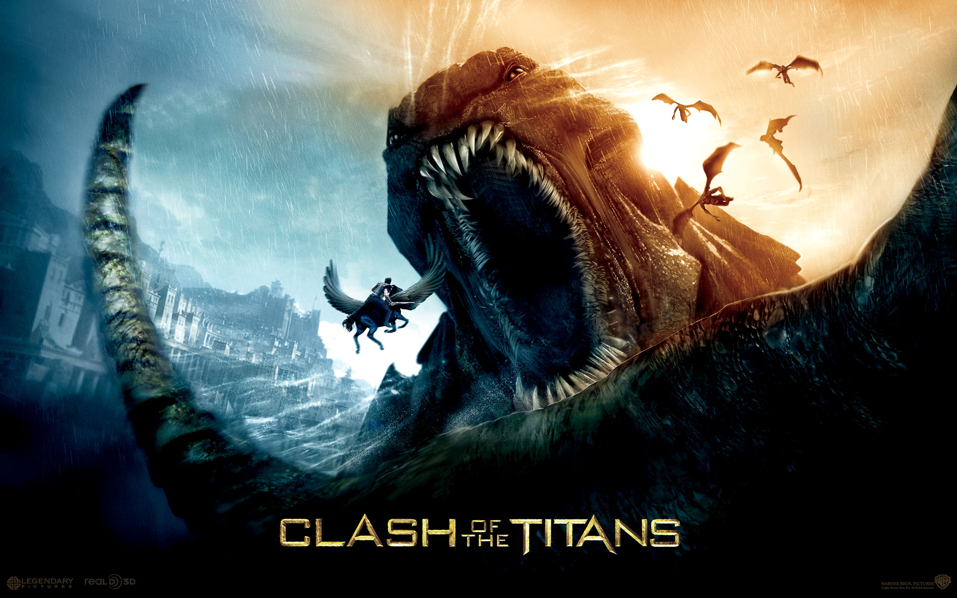 english movie wallpapers. Clash of the titans – movie wallpaper. The mortal son of the god Zeus