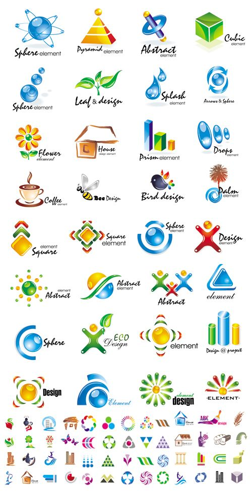 Design Vector Logo Elements (логотипы)