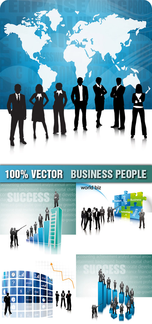 stock photo business people. stock vector business people Business People Stock Vector
