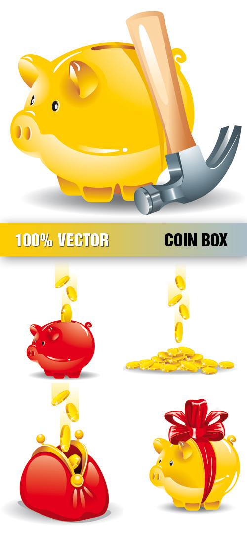 Stock Vector ? Coin Box