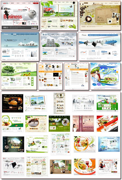 Full Site South Korean Web Template 200 PSD